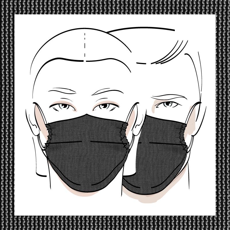 Couvre-visage 3 épaisseurs | Le 375