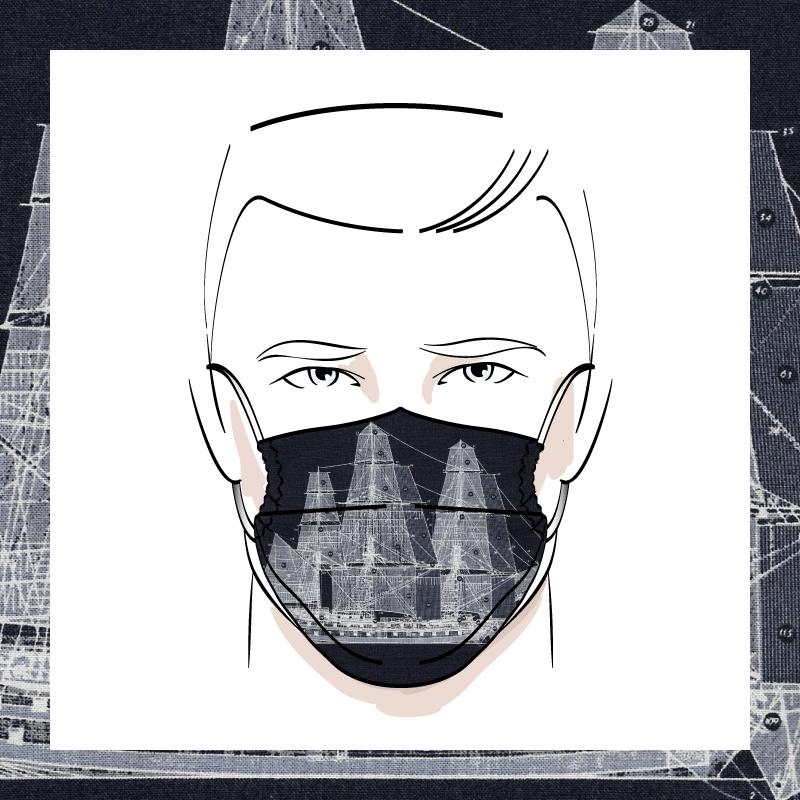 Couvre-visage 3 épaisseurs | Le 384