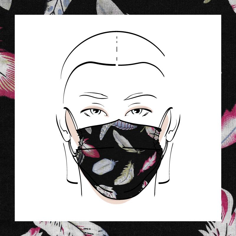 Couvre-visage 3 épaisseurs | Le 385