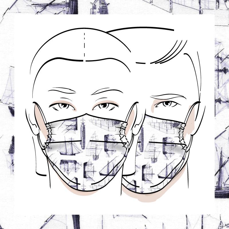 Couvre-visage 3 épaisseurs | Le 389