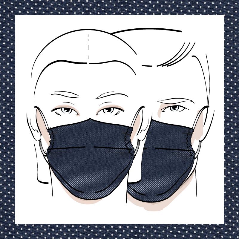 Couvre-visage 3 épaisseurs | Le 397
