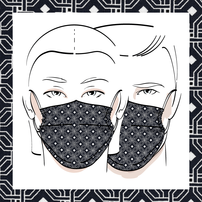Couvre-visage 3 épaisseurs | Le 398