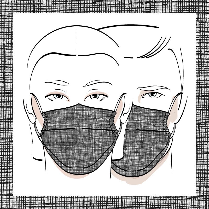 Couvre-visage 3 épaisseurs | Le 410