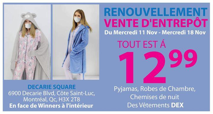 Prolongation de la vente de pyjamas / warehouse sale /  2e étage (second floor) @ Carré Decarie Square | Montreal | QC | Canada