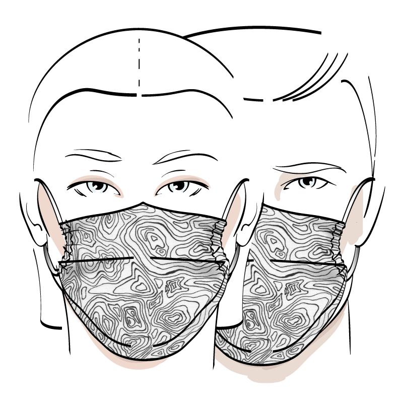 No. 422 – Couvre-visage 3 épaisseurs