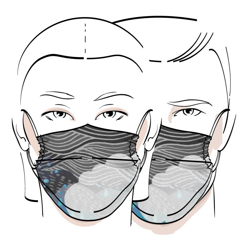 No. 424B – Couvre-visage 3 épaisseurs