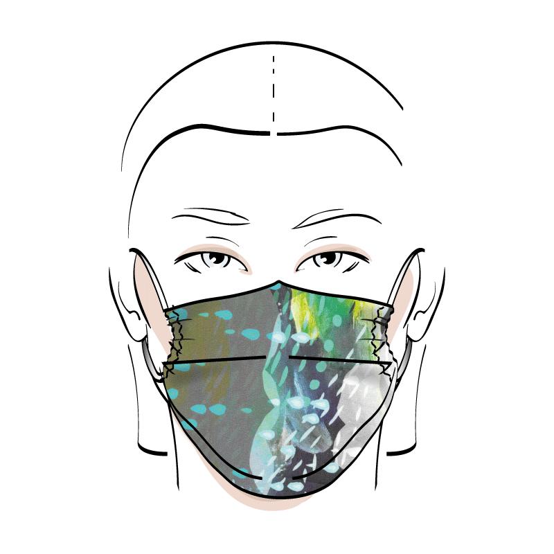 No. 424D – Couvre-visage 3 épaisseurs
