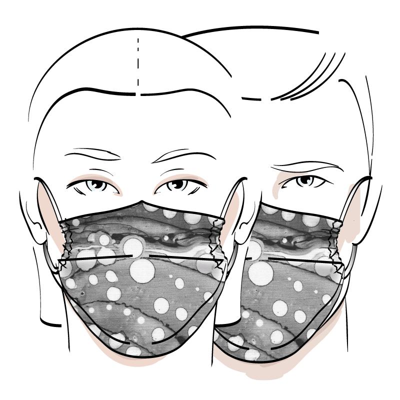No. 429 – Couvre-visage 3 épaisseurs