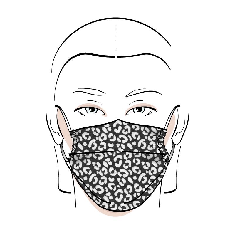 No. 436 – Couvre-visage 3 épaisseurs