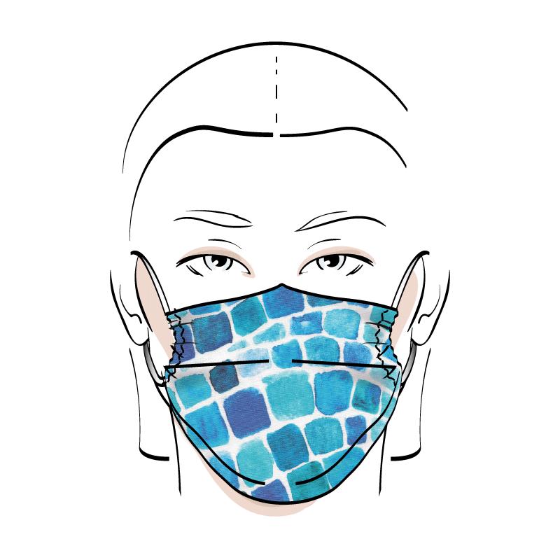 No. 438 – Couvre-visage 3 épaisseurs