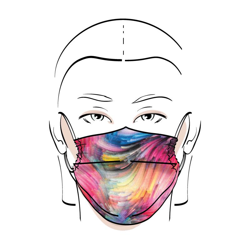 No. 440 – Couvre-visage 3 épaisseurs