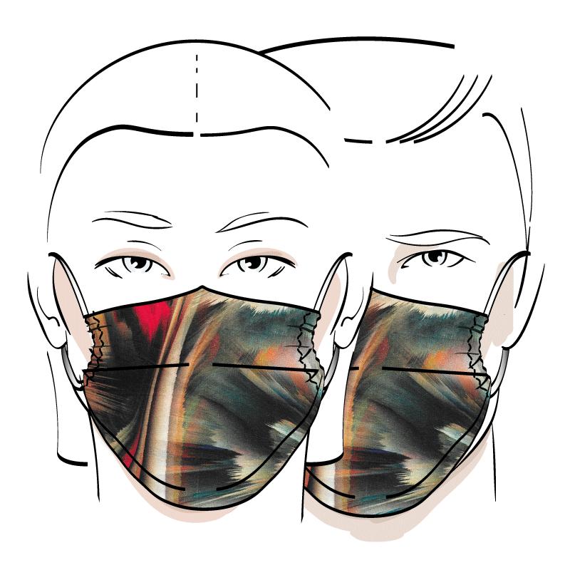 No. 441 – Couvre-visage 3 épaisseurs