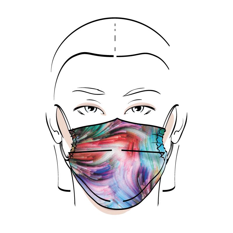 No. 442 – Couvre-visage 3 épaisseurs