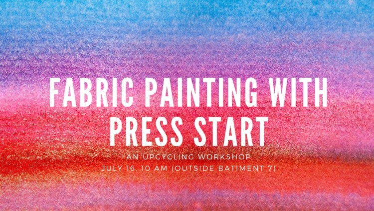 Fabric Painting: an Upcycling Workshop