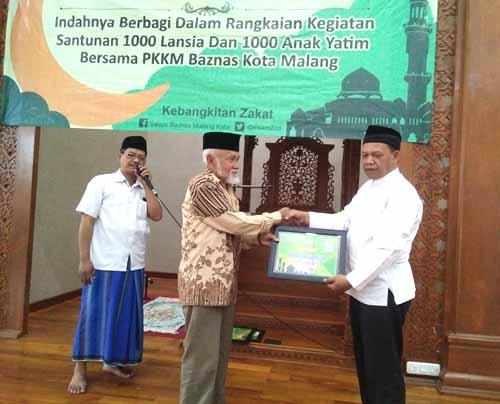 bantuan dari Baznas Kota Malang.