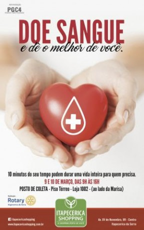Cartaz doacao de sangue