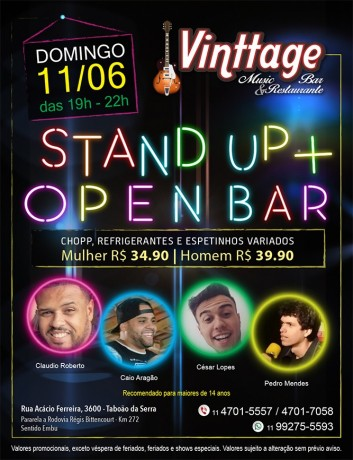Cartaz Stand Up 02 Vinttage