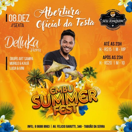 Festa de abertura do Embu Summer Fest