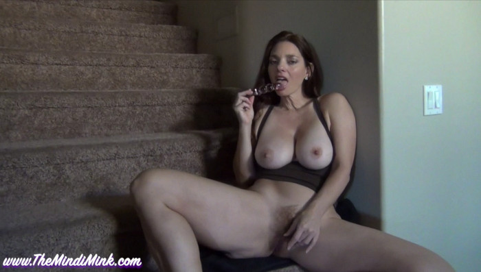Mindi Mink – JOI For Son On Stairs