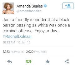 tweet against dolezal