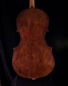 5 string baroque cello back