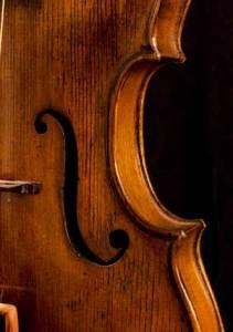 Naples violin f hole