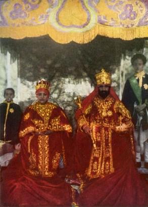 Emperor & Empress in royal red garments