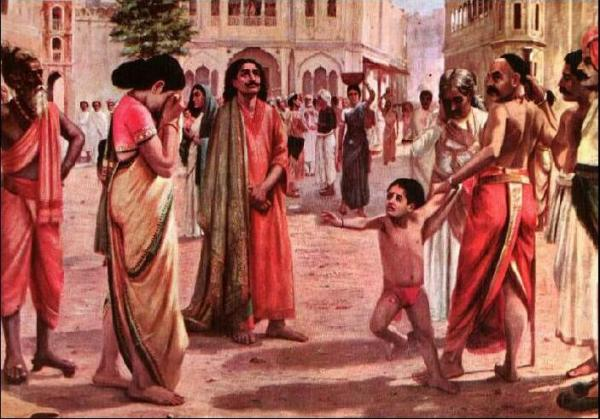 A Painting by Raja Ravi Verma - Harishchandra - Markandeya Purana Hindu Mythology - Listen to The Tab Se Ab Tak Show - Inspirational Stories