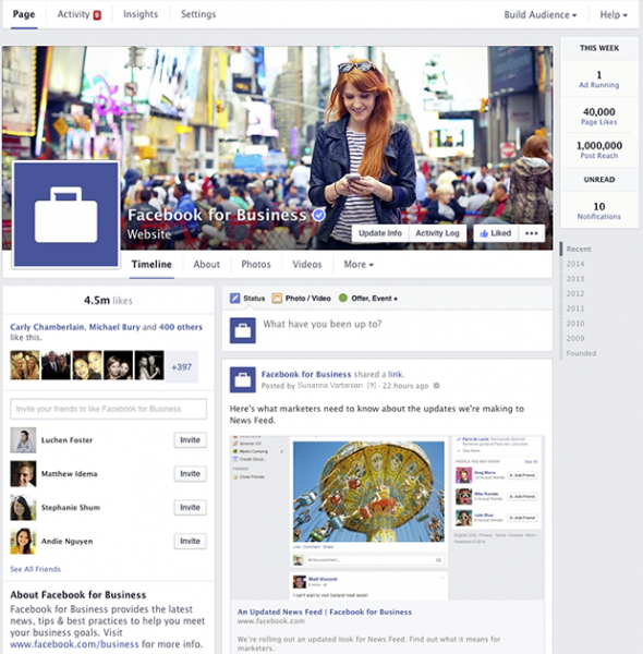 facebook new page layout 2014