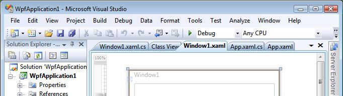 Visual Studio 2008 tabs