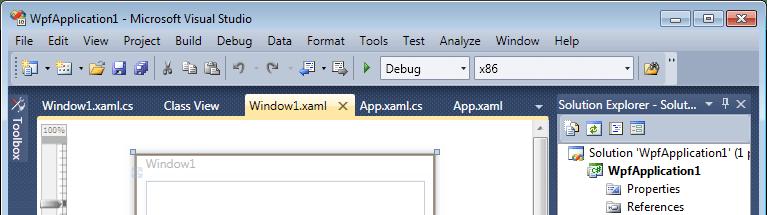 Visual Studio 2010 tabs