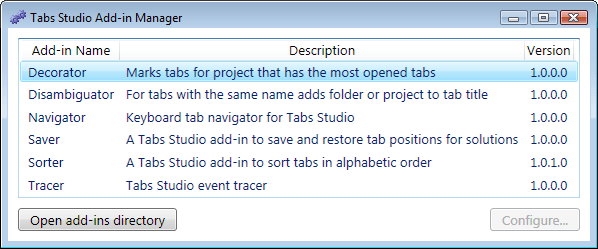 Open add-ins directory button in the Add-ins Manager dialog