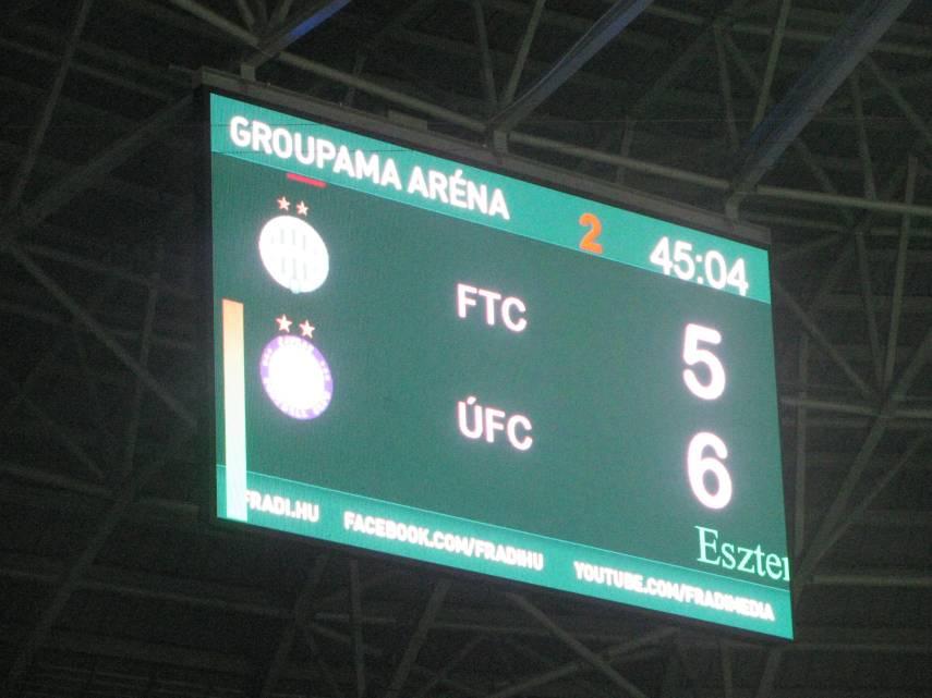 A vége 5-6. Végülis, negyven éve is volt egy pályaavató, igaz, az bajnoki volt, a Vasas ellen, 0-1. Most ők lőtték a gólokat: Szokolai, Dzurják, Wukovics, Lisztes, Kuntics, ill. Kovács Z. (2), Katona, Egressy (3)