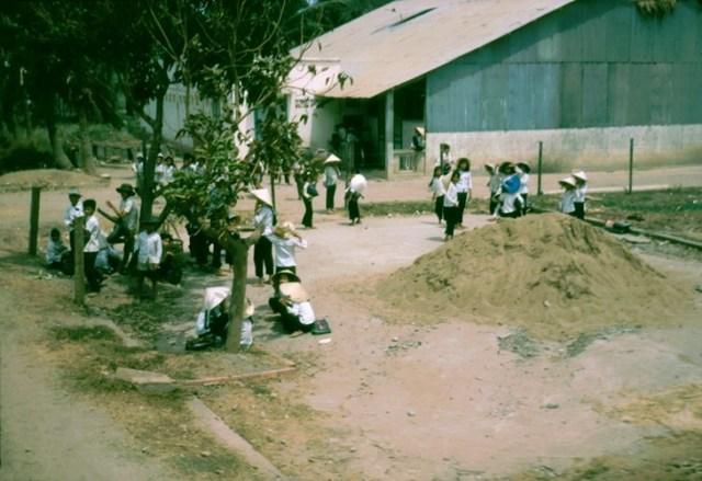 Một góc sân trường.