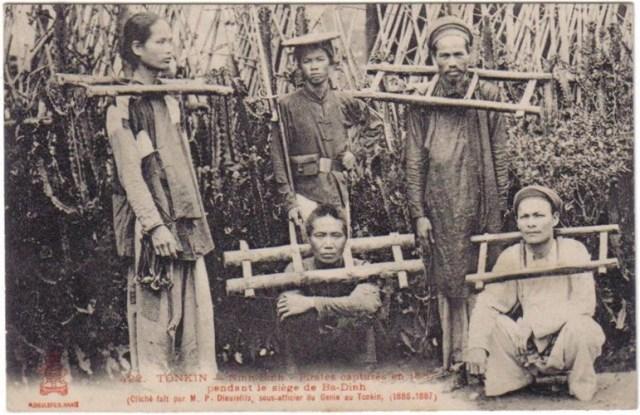 Các chiến sĩ của nghĩa quân Ba Đình bị bắt giữ và đưa ra pháp trường sau cuộc vây hãm của Pháp.