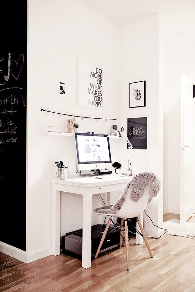 Inspiration d co un coin bureau dans mon salon for Bureau de coin
