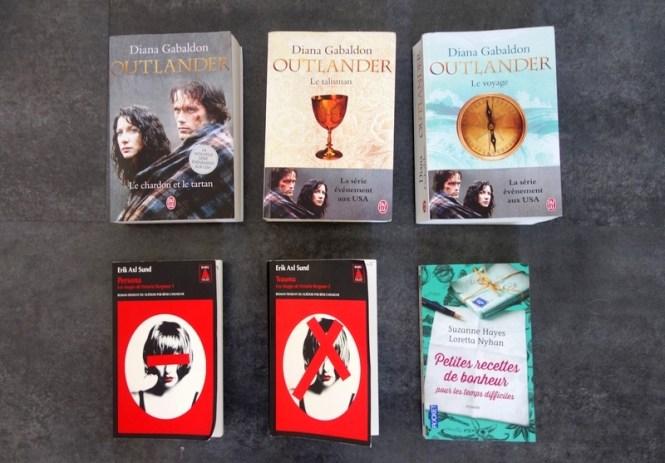 Lecture 1 - Blog Tache de Rousseur (Outlander, Les Visages de Victoria Bergman, Petites recettes de bonheur pour les temps difficiles)