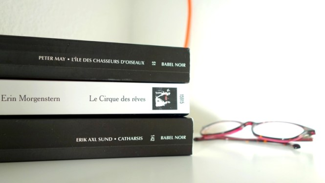 Mes lectures 3 - Les Visages de Victoria Bergman #3(Catharsis), Le Cirque des Reves, L'ile de Lewis