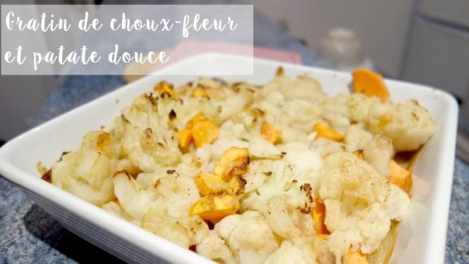 Recette de gratin de choux fleur et patate douce vegan