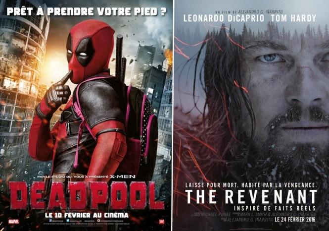 Chronique Cinéma - Affiches de Deadpool et The Revenant