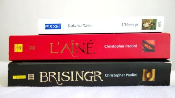 Mes lectures 5 - L'Héritage de Katherine Webb et les tomes 2 et 3 d'Eragon par Christopher Paolini a