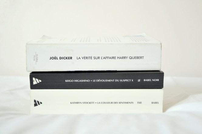Mes lectures 6 - La couleur des sentiments + Le dévouement du suspect X + La vérité sur l'affaire Harry Quebert 1