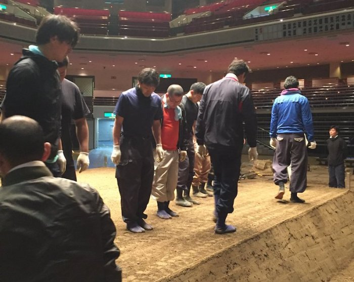 Dohyo construction Jan 18