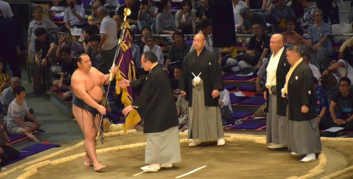 Nagoya Day 1 Yusho Banner
