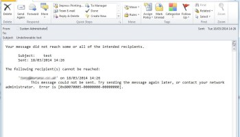 Error 80070005 in Outlook when using Office 365 to Send-as from a shared mailbox or distribution group