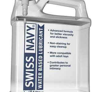 Swiss Navy Lubricant Waterbase Transparent 1 Gallon