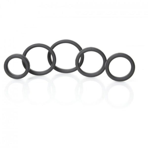 Boneyard Silicone Ring Kit Black 5 Pack