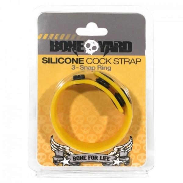 Boneyard Cock Strap Yellow OS