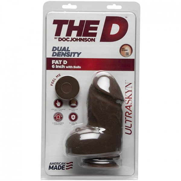 The D Fat D with balls ULTRASKYN Chocolate 6in