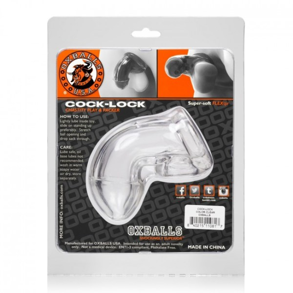 Oxballs Cock Lock Chastity Clear Os